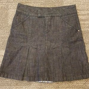 Anthropologie Bica Cheia Denim Jean Pleat Skirt 6